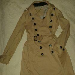 Γυναικείο αδιάβροχο / τέντωμα παλτό Μανγκό μέγεθος