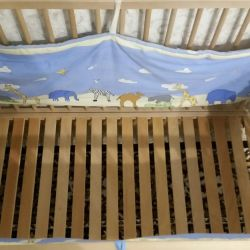 Baby bed made of beech