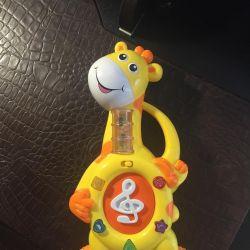 Muses toy giraffe.