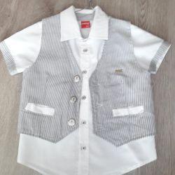 Рубашка+жилетка мальчику рост110см bebus (Турция)