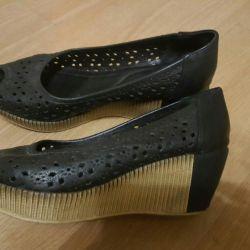 δερμάτινα παπούτσια 39τ