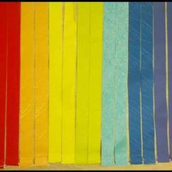 Blinds vertical rainbow colors