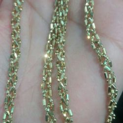 Gold chain 585 samples.