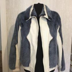 Sheepskin coat / mink coat and genuine leather