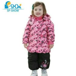 Children's down jacket with overalls