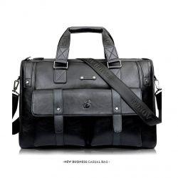 Bag Baillr men's leather briefcase black