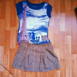 Skirt and T-shirt with Paris ?