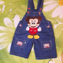Shorts overalls denim
