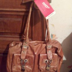 New italian leather bag