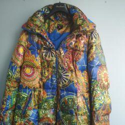 Multi-colored warm women's jacket