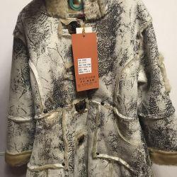 Sheepskin coat for girl