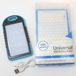 Power bank with solar battery 12000 mAh