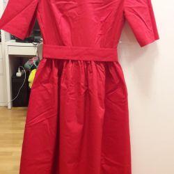 Платье новое 44-46 размер красное хлопок