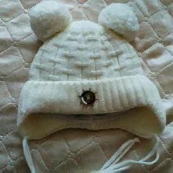 Winter hat from 0 to 6 months