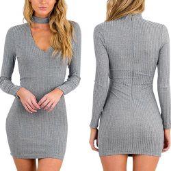 Short gray tunics with choker.Novye.r.40-46.