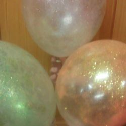 Balloons with sparkles in the inside