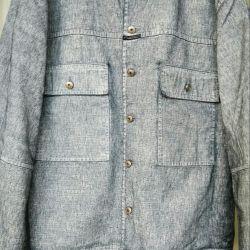 Джинсовая куртка, новая, Испания, высокий рост!