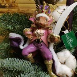 Елочная игрушка/подвеска Мышиный Король.