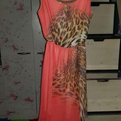 Шифоновое платье 42р леопард