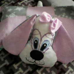 Pillow dog toy