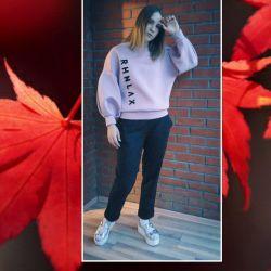 Designed neoprene sweatshirt