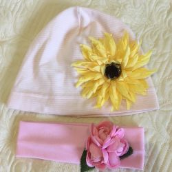 Sunflower hat and bandage