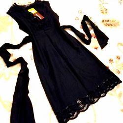 🖤Monton🖤 dress black cotton 100%, embroidery