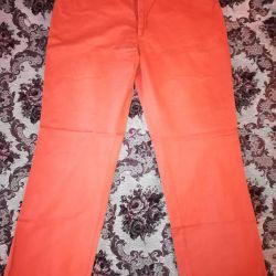 Erkek kot pantolon, turuncu W38 L34