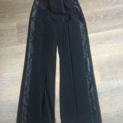 Детские брюки для бальных танцев 36р длина 105см