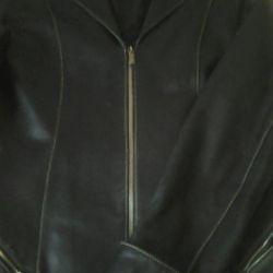 Jachetă din jachetă din piele.