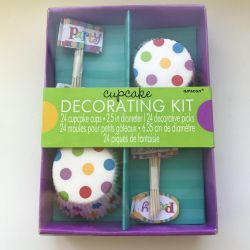 Decor set for cupcakes