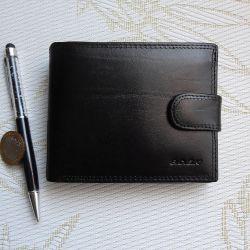 Мужской бумажник (портмоне).Кожа