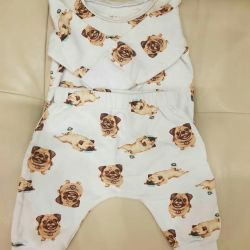 Suit for the baby from the footer with pile
