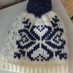 Winter hat on fleece