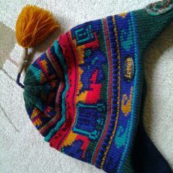 Winter warm cap with lining