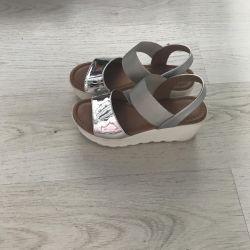 Sandals metallic 37 size