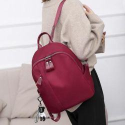 Bag Backpack for women, fabric luxury red new