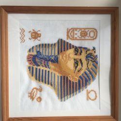 Tutankhamun cross-stitch