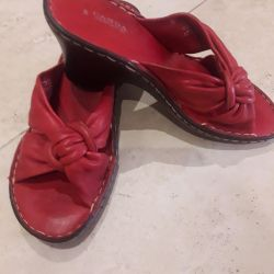 Clogs leather new