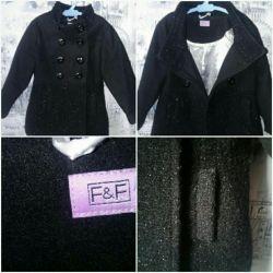 Пальто для девочки чeрное