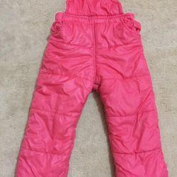 Ζεστές φόρμες για παιδιά με ύφασμα. παντελόνια