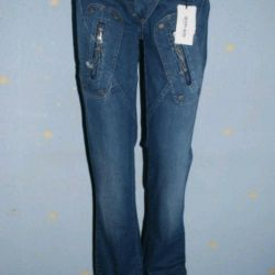 Jeans with zippers Denny Rose art. 2855 italy new