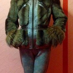 Fur coat natures. Silver fox / beaver / nat leather