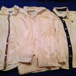 Школьные белые рубашки( пакетом)