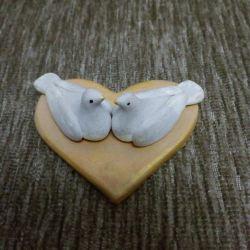Handmade dove figurine