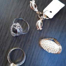 Δαχτυλίδια, σκουλαρίκια