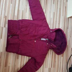 Jacket + cap + package of things