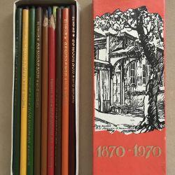 Цветные карандаши ИСКУССТВО СССР 1973 г.