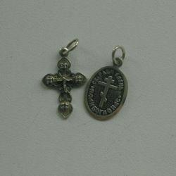 Ασημένιο σταυρό και εικονίδιο