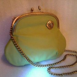 Bag leather light olive